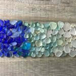 blue seaglass ombre on wood