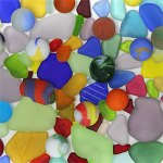 bright seaglass shards