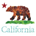 seaglass California Bear Star Flag