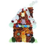 Sea Glass Gingerbread House