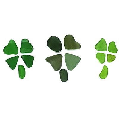 Three Green Shamrocks