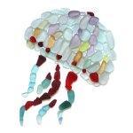 sea glass jellyfish