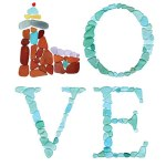 Sea Glass Lighthouse LOVE