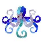 sea glass octopus