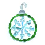 Sea Glass Christmas Ornament