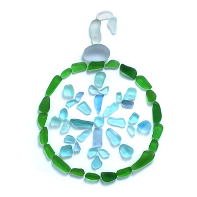 Sea Glass Christmas Ornament