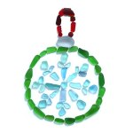 Sea Glass Christmas Ornament on Ribbon