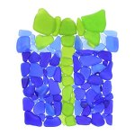 Sea Glass Gift Wrapped Present