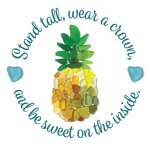 Stand tall sea glass pineapple