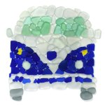 Blue Sea Glass Surfer Van
