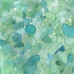 teal and aqua sea glass