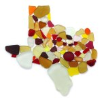 sea glass map of texas