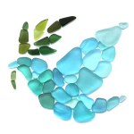 Sea Glass Dove Peace