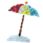 sea glass beach umbrella