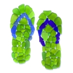 Sea Glass Flip Flops