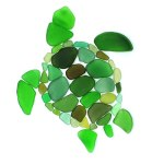 seaglass sea turtle