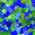 blue green sea glass