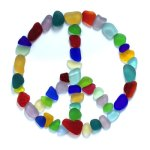 sea glass peace sign