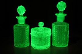 glowing uv glass